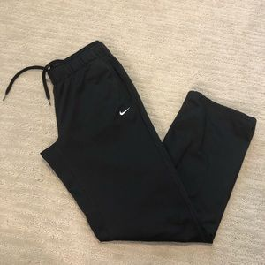 Nike Dri fit athletic sweatpants black medium